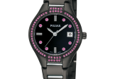 Ladies Gun Metal Pulsar Watch