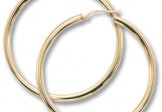 14K Yellow Gold Filled Large Hoop Earrings