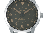 White with Grey Dial Round Pulsar Watch