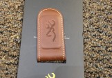Browning Leather Magnetic Money Clip