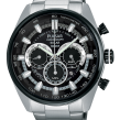 Gents White with Black Dial On The Go Pulsar Solar Watch Collection