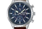Pulsar Men's Solar Leather Band Chronograph Watch